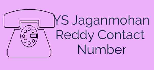 YS Jaganmohan Reddy Contact Number